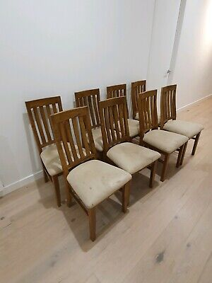 AU260 • Buy Solid Timber Dining Chairs Great Condition 8 Chairs