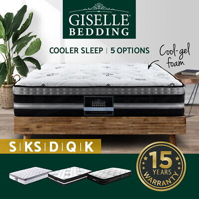 AU287.95 • Buy Giselle Mattress Queen Double King Single COOL-GEL Pocket Spring Medium Firm
