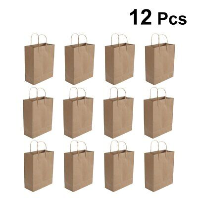 Brown Craft Paper Carrier Bags Gift Party With Strong Twisted Handles 12pcs Set • 8.06£