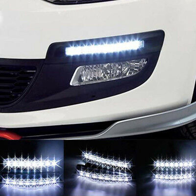 AU12.92 • Buy 2PCS 12V 6 LED Daytime Running Light DRL Car Fog Day Driving Lamp Lights Kit W^