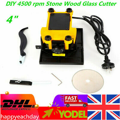 Portable100mm 4Inch Stone Wood Glass Cutter Mini Table Saw Cutting Tool 4500 Rpm • 42.60£