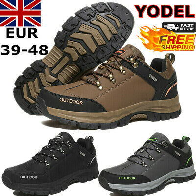 New Mens Hiking Boots New Walking Wide Fit Trail Trekking Trainers Shoes Size Uk • 28.59£