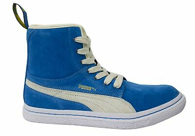 Puma Dr Clyde Mashup Blue Suede Hi Top Lace Up  Womens Trainers 351729 04 • 29.99£