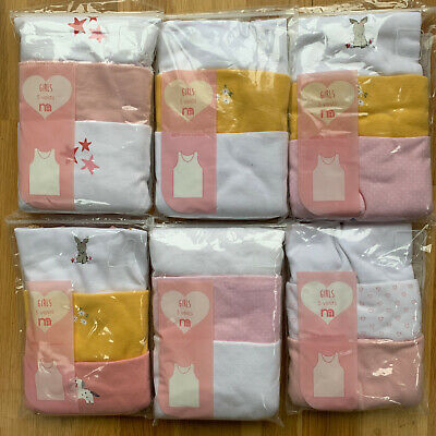 £4.95 • Buy Girls Pack Of 3 Mothercare Vests Top Age 2 - 7 Years