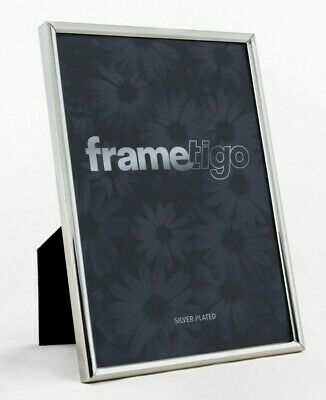 £8.49 • Buy Silver Plated Photo Frame Picture Modern Narrow Thin Freestanding All Sizes Gift