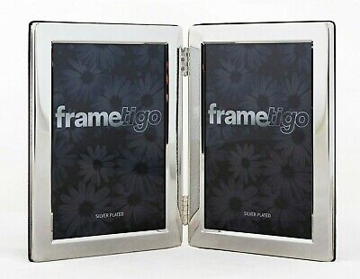 £12.99 • Buy Silver Plated Photo Frame Picture Modern Flat Gift Double Sided Hinged All Sizes