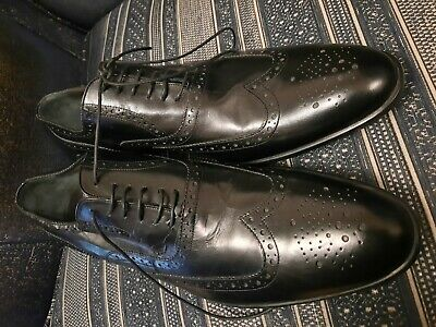 Russell And Bromley Moreschi Boston Brogue Shoe Black Uk 12 • 249.99£