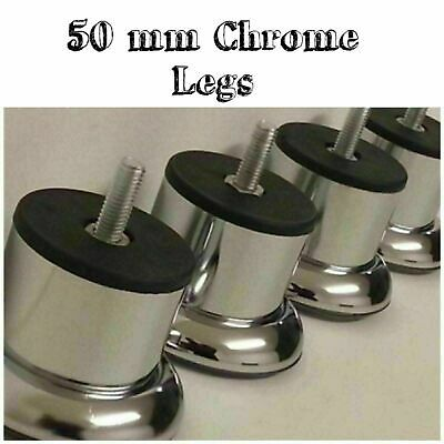 New Quality Chrome Legs Furniture Feet Sofa-beds-chairs Stools Cabinet M8 Size • 9.99£