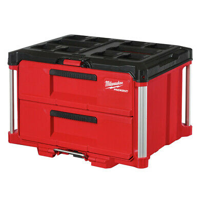 View Details Milwaukee 48-22-8442 PACKOUT 50 Lbs. Capacity 2-Drawer Tool Box New • 149$