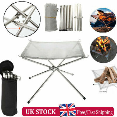 £17.99 • Buy Portable Mesh Fire Pit Folding Fire Pit Bonfire Stand For BBQ Outdoor Camping