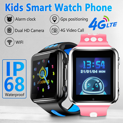 AU109.49 • Buy GSM SIM Smart Watch Phone Touch Screen Camera Games Alarm SOS For Kids Children