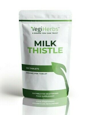 £4.99 • Buy Milk Thistle Tablets   High Strength 4000mg   120 Silymarin Tablets Not Capsules