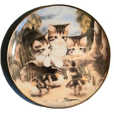 £15.79 • Buy Franklin Mint Fine Feathered Friends Sprovach Decorative Cat Plate Collection