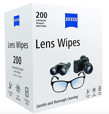£5.99 • Buy Zeiss Optical Moist Lens Cleaning Wipes Glasses Camera Phone Screen 1 - 400 Wipe