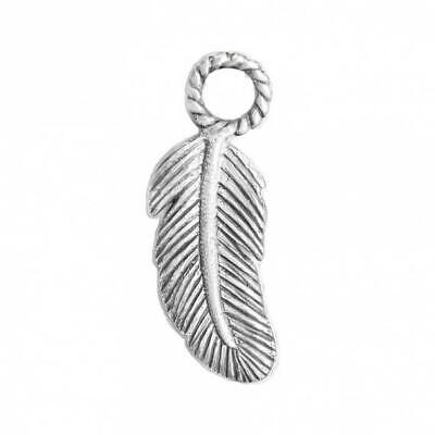 AU34.50 • Buy NOOSA Amsterdam Relics Silver Feather Charm
