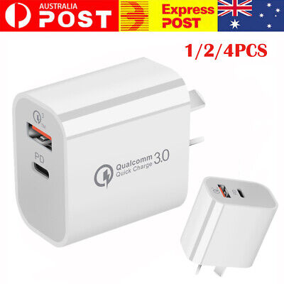 AU12.59 • Buy Plug PD 18W USB-C Type C Fast Wall Charger Adapter For IPhone 12 11 Android