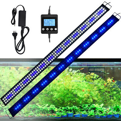 AU47.21 • Buy Aquarium LED Light Fish Tank OverHead White&Blue Plant Lighting Lamp 4ft 5ft 6ft