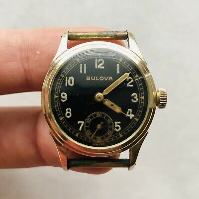 $288 • Buy RARE WWII BULOVA 10BS Watch Military WW2 Swiss USA Vintage (Without Back Cover)