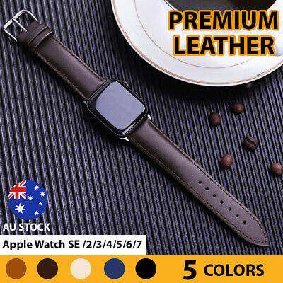 AU10.58 • Buy Premium Leather Strap IWatch Band For Apple Watch  6 5 4 3 2 1 SE 38/40/42/44mm