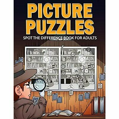 £8.33 • Buy Picture Puzzles: Spot The Difference Book For Adults - Paperback / Softback NEW