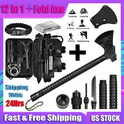 $54.69 • Buy Axe Kit Survival Camping Outdoor Tactical Hunting Hatchet EDC Emergency Gear Set