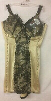 £7 • Buy Charnos Hourglass Suspender Corselette Size 32c Gold/black Hg018