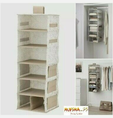STROSTABBE Hanging Storage With 7 Compartments Inside Your Wardrobe Or F/S/Rack • 22.99£