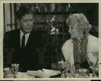 $ CDN25.02 • Buy Press Photo Rudy Vallee & Estelle Winwood In The Name Of The Game, On NBC.