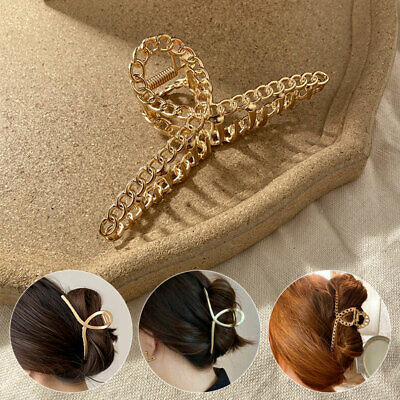 AU4.13 • Buy Women Modern Hair Clip Hair Accessories Hair Claw Metal Large Size Hairband
