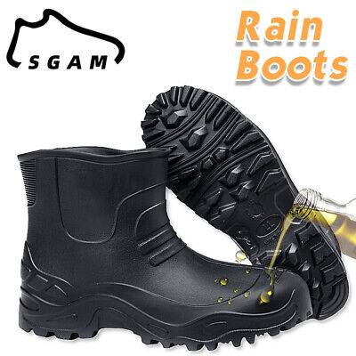 £14.85 • Buy Mens Non-slip Waterproof Rubber Rain Boots Slip-On Casual Muck Mud Ankle Shoes