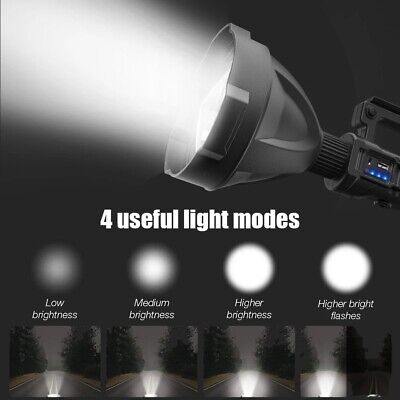 AU56.99 • Buy P70 Powerful LED Flashlight XHP70.2 Torch Lamp Waterproof Hunting Light 4 Modes