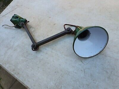 Vintage Likely EDL Industrial 2 Arm Anglepoise Machinists Lamp Good Condition • 125£