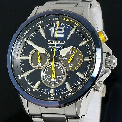 $ CDN3.19 • Buy Seiko Jimmie Johnson Special Edition Solar Chronograph V175-0DM0 Stainless Steel
