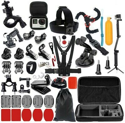 $ CDN30.44 • Buy New Model Black Action Camera Accessories Kit For GoPro Hero 7/6/5/4 GoPro HERO7