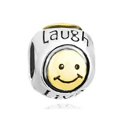 AU19.70 • Buy Authentic Pandora Sterling Silver 925 Smile Heart Live Love Laugh Charm Bead