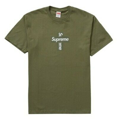 $ CDN159.46 • Buy Supreme Cross Box Logo Tee Olive Size Medium Brand New Sealed