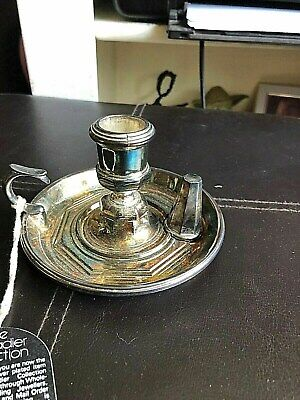 Decorative Candle Holder - (the Grenadier Collection) - + Snuffer - Silver Plate • 7.50£