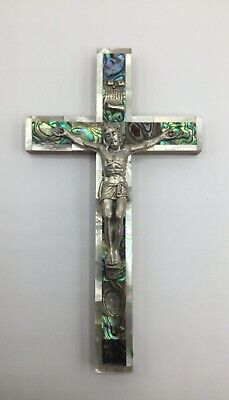 Mother Of Pearl Stations Of The Cross Jerusalem Crucifix Cross • 14.66£