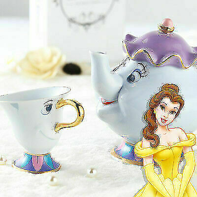 2021 Disney Beauty And The Beast Mrs. Potts & Chip Tea Pot And Cup Set • 25.88£