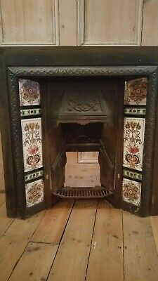 Victorian Style Cast Iron Tiled Fireplace Surround • 150£