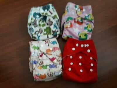 AU15 • Buy 4x Pocket MCN Reusable Cloth Nappies With Inserts