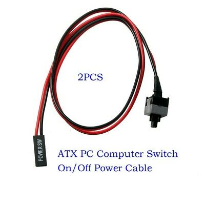 £4.07 • Buy 2 ATX PC Computer Motherboard Power Cable Switch On/Off/Reset Button Replacement