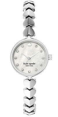 $ CDN187.97 • Buy NWT Kate Spade New York Hollis Silver Stainless Steel Hearts Watch KSW1590