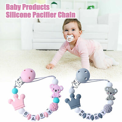 Dummy Clip Silicone Pacifier Chain Nipple Soother Holder For Baby Boys Girls • 4.99£
