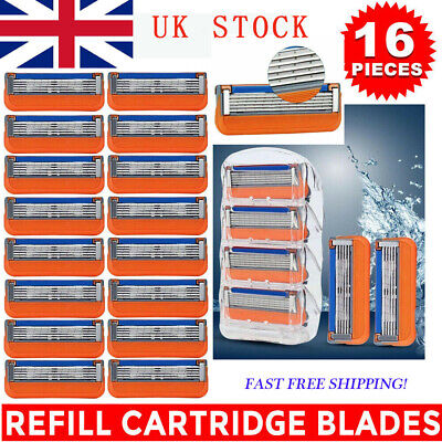 16Pcs For Gillette Fusion 5-Layer Men's Razor Blade Refills Replacement Gift UK • 11.19£