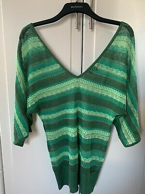 Pepe Jeans Green V Neck Top • 5£