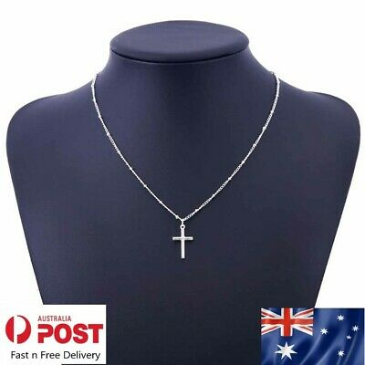 AU5.89 • Buy NEW  Cross Pendant Charm Gold Or Silver Necklace Chain Women Fashion Jewellery