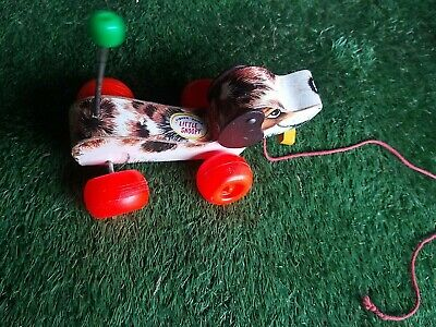 Vintage Children's Collectors Item Fisher Price Little Snoopy Wooden Dog 1965 • 9.99£