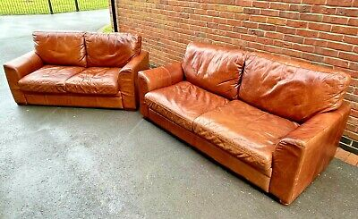 HALO X2 Matching Leather Sofas • 1,200£