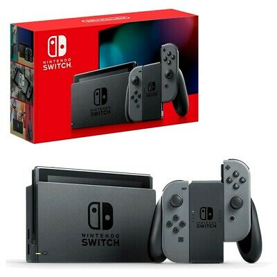 AU469.95 • Buy Nintendo Switch Grey Console NEW + Mario Kart 8 + Super Smash Bros + NSO 3 Month